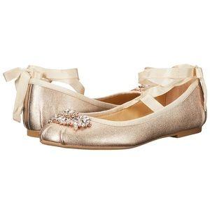 Badgley Mischka Karter II Embellished Ballet Flat